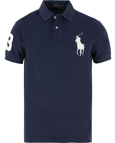Polo Ralph Lauren Slim Fit Big Pony Polo Navy i gruppen Pikéer / Kortärmade pikéer hos Care of Carl (11765511r)