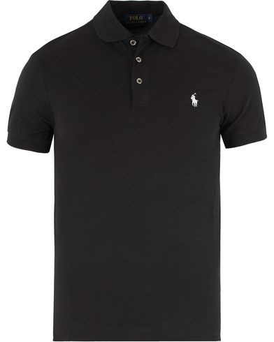 Polo Ralph Lauren Slim Fit Stretch Polo Black i gruppen Pik�er / Kort�rmad Pik� hos Care of Carl (11765911r)