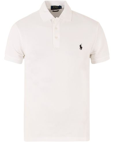 Polo Ralph Lauren Slim Fit Stretch Polo White i gruppen Pikéer / Kortärmade pikéer hos Care of Carl (11766011r)