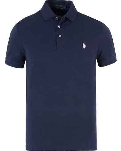 Polo Ralph Lauren Slim Fit Stretch Polo Navy i gruppen Polotrøjer / Kortærmede polotrøjer hos Care of Carl (11766111r)