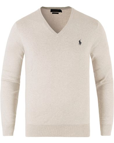 Polo Ralph Lauren Pima Cotton V-Neck Pullover Heather i gruppen Kläder / Tröjor / Pullovers / V-ringade pullovers hos Care of Carl (11767911r)