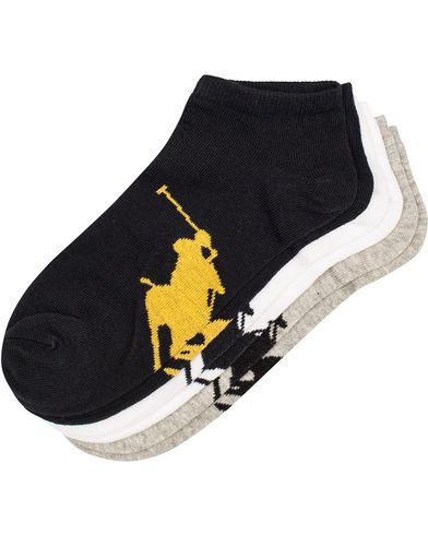 Polo Ralph Lauren 3-Pack Sneaker Socks Grey/Black/White  i gruppen Undertøj / Strømper / Ankelsokker hos Care of Carl (11781210)