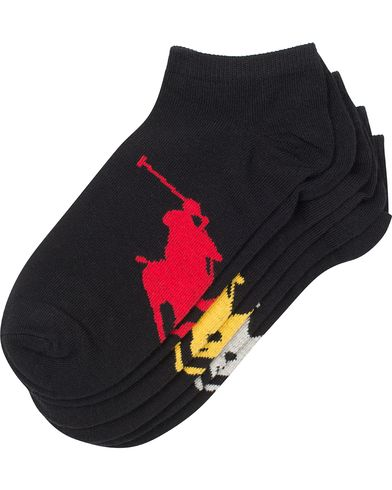 Polo Ralph Lauren 3-Pack Sneaker Socks Black  i gruppen Undertøj / Strømper / Ankelsokker hos Care of Carl (11781410)