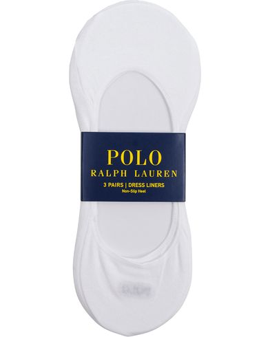 Polo Ralph Lauren 3-Pack Socks No Show Dress Liners White  i gruppen Undertøy / Sokker hos Care of Carl (11781510)