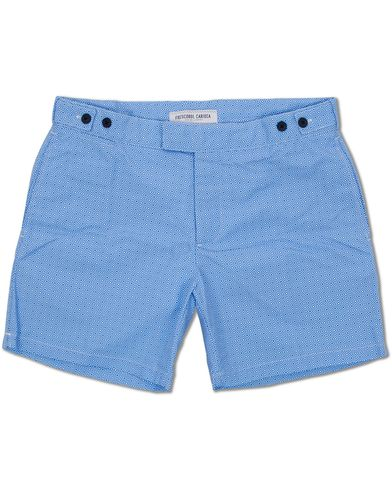 Frescobol Carioca Trunks Tailored Angra Print Blue i gruppen Tøj / Badebukser hos Care of Carl (11791011r)