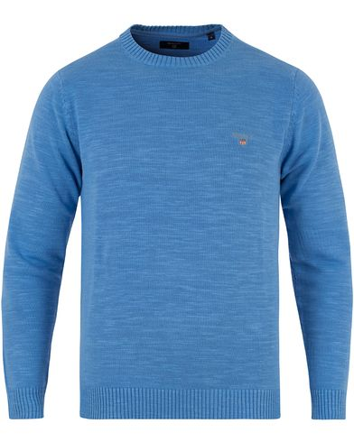 Natural Cotton Crew Neck Pullover Pacific Blue i gruppen Tøj / Trøjer / Pullovere / Pullovers med rund hals hos Care of Carl (11808811r)