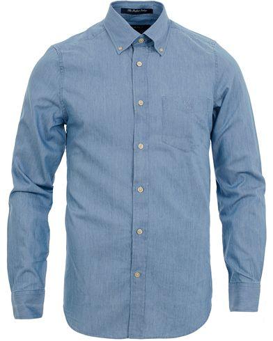 GANT The Perfect Indigo Shirt Fitted Body Light Indigo i gruppen Kläder / Skjortor / Casual / Casual skjortor hos Care of Carl (11816911r)