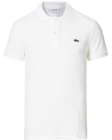 Lacoste Slim Fit Polo Piké White i gruppen Tøj / Polotrøjer hos Care of Carl (11885611r)