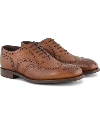 Loake 1880 Buckingham Brogue Dainite Brown i gruppen Sko / Brogues hos Care of Carl (11886511r)