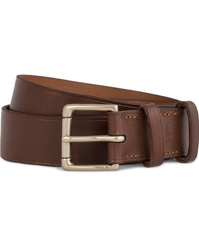 Polo Ralph Lauren David Leather Belt 3 cm Tan i gruppen Assesoarer / Belter / Umønstrede belter hos Care of Carl (11925211r)