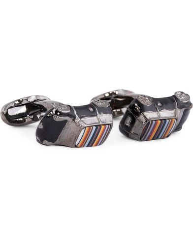 Paul Smith Mini Car Cufflinks Multistripe  i gruppen Accessoarer / Manschettknappar hos Care of Carl (11941610)