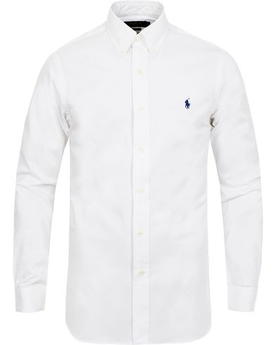 Polo Ralph Lauren Slim Fit Shirt Poplin White i gruppen Kläder / Skjortor hos Care of Carl (11947011r)
