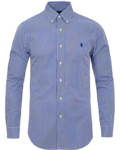 Polo Ralph Lauren Slim Fit Shirt Poplin Big Stripe Blue/White i gruppen Klær / Skjorter / Casual skjorter hos Care of Carl (11947111r)