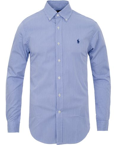 Polo Ralph Lauren Slim Fit Shirt Poplin Blue/White i gruppen Tøj / Skjorter hos Care of Carl (11947211r)