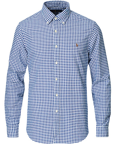 Polo Ralph Lauren Slim Fit Shirt Oxford Blue/White Gingham i gruppen Skjorter / Oxfordskjorter hos Care of Carl (11947311r)