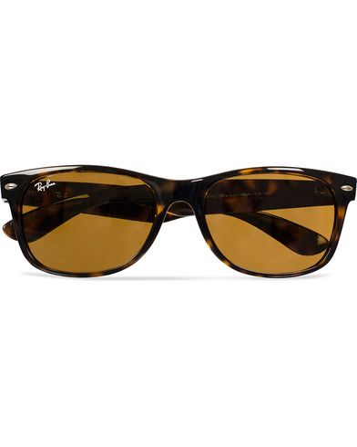 Ray-Ban New Wayfarer Sunglasses Light Havana/Crystal Brown  i gruppen Solbriller hos Care of Carl (11948110)