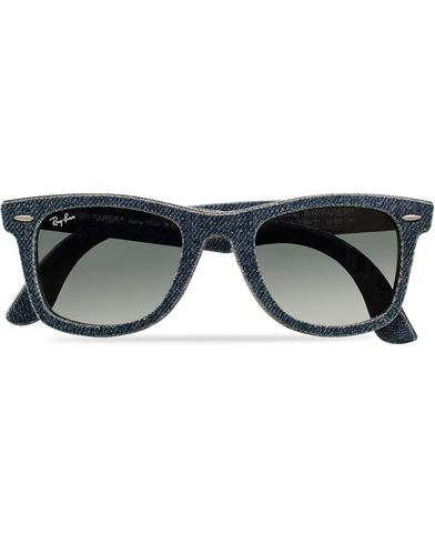 Ray-Ban Original Wayfarer Sunglasses Jeans/Grey/Green i gruppen Solglasögon / D-formade solglasögon hos Care of Carl (11948410)