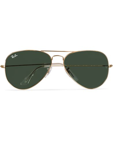Ray-Ban Aviator Large Metal Sunglasses Arista/Grey Green  i gruppen Accessoarer / Solglasögon / Pilotsolglasögon hos Care of Carl (11949310)