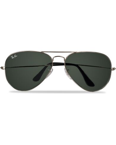 Ray-Ban Aviator Large Metal Sunglasses Silver/Grey Mirror i gruppen Solglasögon / Pilotsolglasögon hos Care of Carl (11949410)
