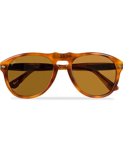 Persol PO0649 Sunglasses Light Havana/Crystal Brown  i gruppen Solglasögon / D-formade solglasögon hos Care of Carl (11951410)