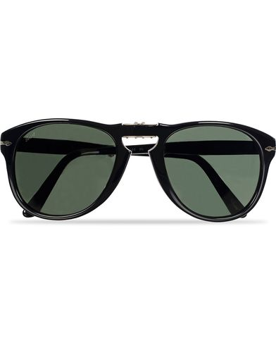Persol PO0714 Folding Sunglasses Black/Crystal Green  i gruppen Solglasögon / D-formade solglasögon hos Care of Carl (11951510)