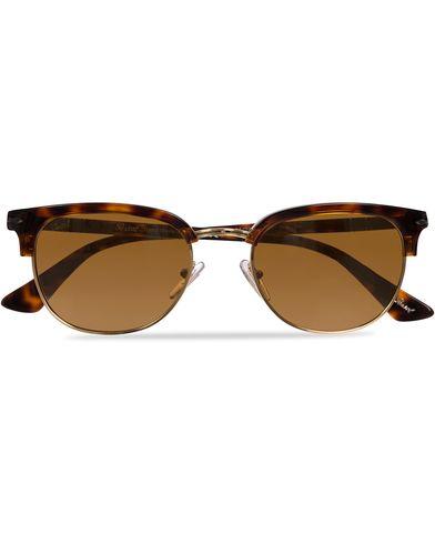 Persol PO3105S Sunglasses Havana/Brown  i gruppen Solglasögon / D-formade solglasögon hos Care of Carl (11951910)