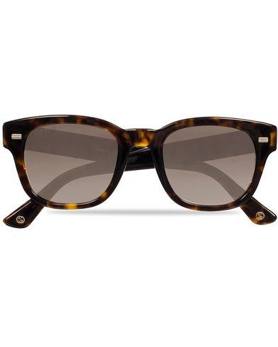 Gucci GG1079S Sunglasses Havana/Brown i gruppen Solbriller / Buede solbriller hos Care of Carl (11953910)