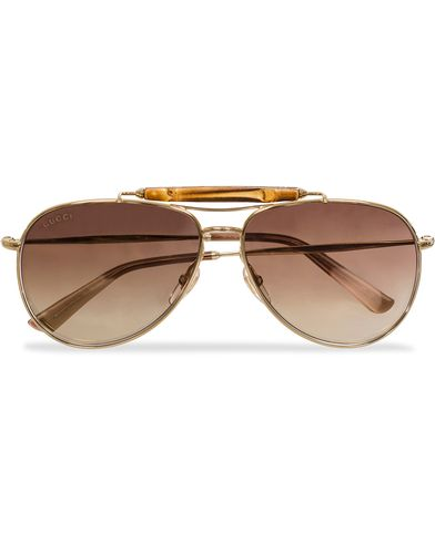 Gucci GG2235S Sunglasses Gold/Brown i gruppen Solglasögon / Pilotsolglasögon hos Care of Carl (11954510)