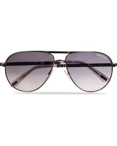 Tom Ford Marko FT0144 Sunglasses Metal/Grey i gruppen Assesoarer / Solbriller / Pilotsolbriller hos Care of Carl (11955710)