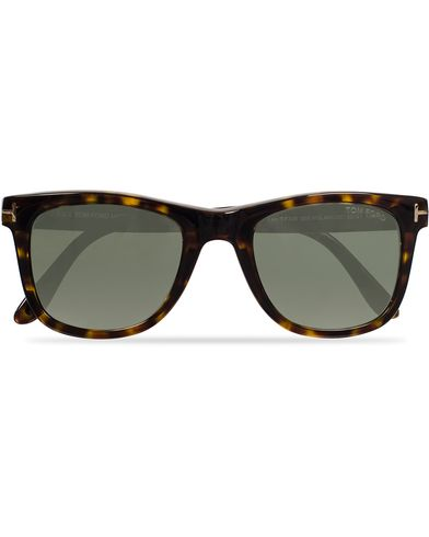 Tom Ford Leo FT0336 Polarized Sunglasses Havana/Green i gruppen Accessoarer / Solglasögon / D-formade solglasögon hos Care of Carl (11955910)