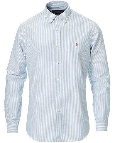 Polo Ralph Lauren Core Fit Oxford Shirt Stripe Blue i gruppen Klær / Skjorter / Oxfordskjorter hos Care of Carl (11962911r)