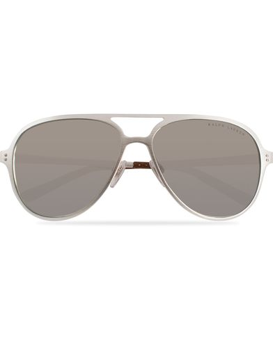 Ralph Lauren Eyewear RL7049Q Sunglasses Brushed Silver/Silver Mirror  i gruppen Solglasögon / Pilotsolglasögon hos Care of Carl (11963910)