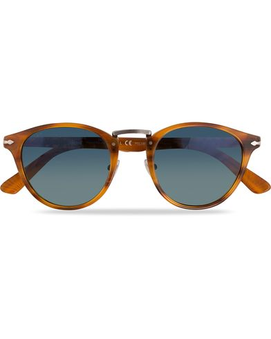 Persol PO3108S Polarized Sunglasses Striped Brown/Gradient Blue  i gruppen Solglasögon / Runda solglasögon hos Care of Carl (11964210)