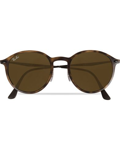 Ray-Ban RB4224 Round Sunglasses Matte Havana/Dark Brown  i gruppen Solbriller / Runde solbriller hos Care of Carl (11965310)