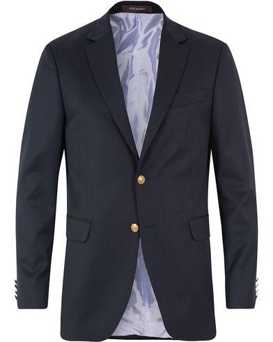 Oscar Jacobson John Club Blazer Navy i gruppen Blazere & Jakker / Enkeltradede blazere hos Care of Carl (11965711r)