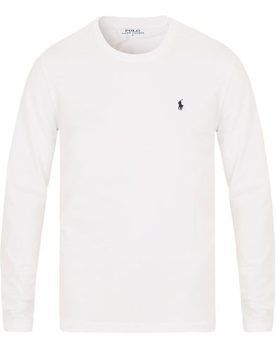 Polo Ralph Lauren Long Sleeve Tee White i gruppen Design B / Kläder / Underkläder / Pyjamas / Pyjamaströjor hos Care of Carl (11970011r)