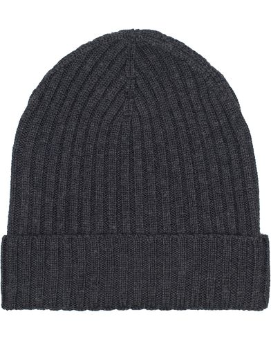 Amanda Christensen Rib Knitted Merino Cap Grey  i gruppen Tilbehør / Huer hos Care of Carl (11984110)