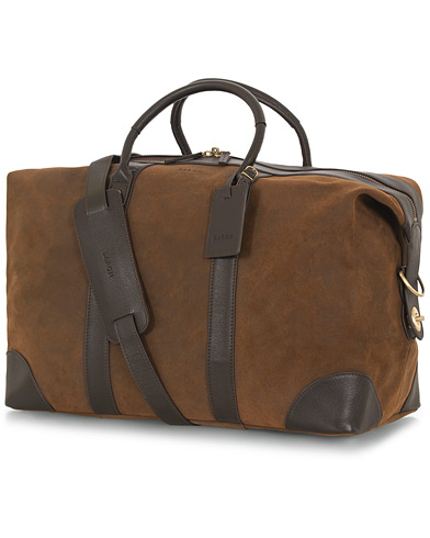 Baron Weekendbag Brown Nubuck i gruppen Assesoarer / Vesker / Weekendbager hos Care of Carl (11993410)