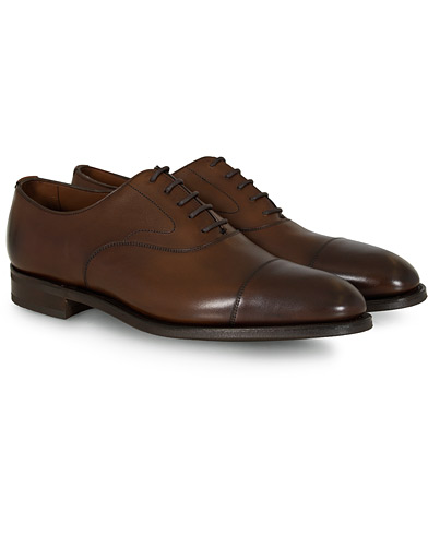 Edward Green Chelsea Oxford Dark Oak Calf i gruppen Design A / Sko / Oxfords hos Care of Carl (12003311r)