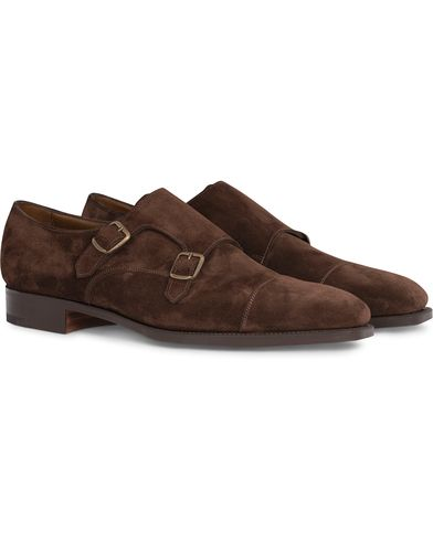 Edward Green Westminster Double Monk Mink Suede i gruppen Sko / Munkesko hos Care of Carl (12003611r)