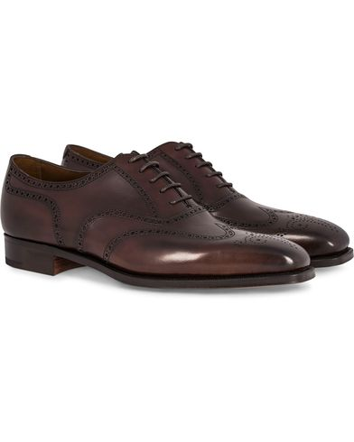Edward Green Inverness Brogue Dark Oak Calf i gruppen Sko / Brogues hos Care of Carl (12003711r)