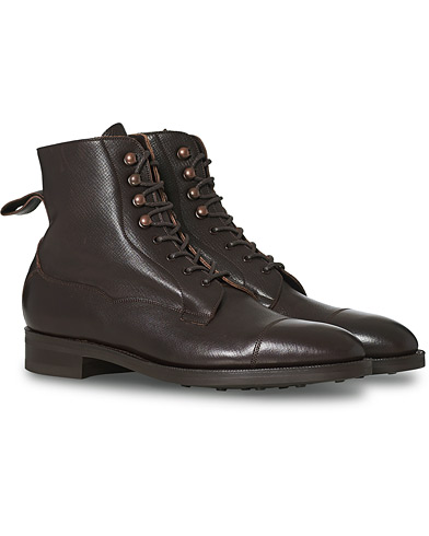 Edward Green Galway Grained Boot Brown Calf i gruppen Sko / Støvler / Snørestøvler hos Care of Carl (12003811r)