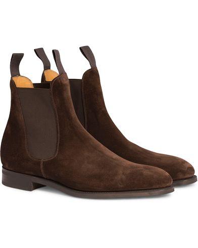 Edward Green Newmarket Chelsea Boot Mink Suede i gruppen Sko / Støvler hos Care of Carl (12003911r)