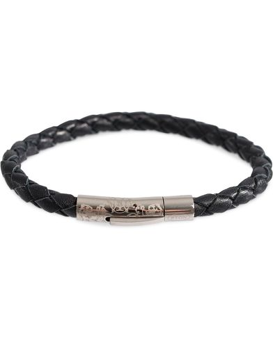 Eton Braided Leather Bracelet Black  i gruppen Tilbehør / Armbånd hos Care of Carl (12010510)