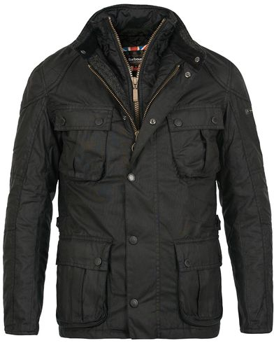 Barbour International Gauge Wax Jacket Black i gruppen Jakker / Voksede jakker hos Care of Carl (12016411r)