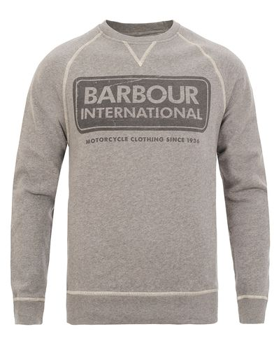 Barbour International Logo Sweat Grey Marl i gruppen Gensere / Sweatshirts hos Care of Carl (12017611r)