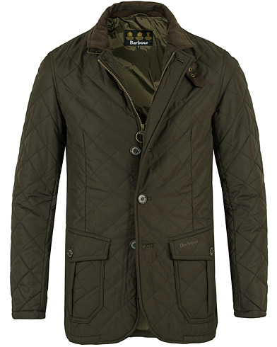 Barbour Lifestyle Quilted Lutz Olive i gruppen Design A / Jakker / Quiltede jakker hos Care of Carl (12017811r)