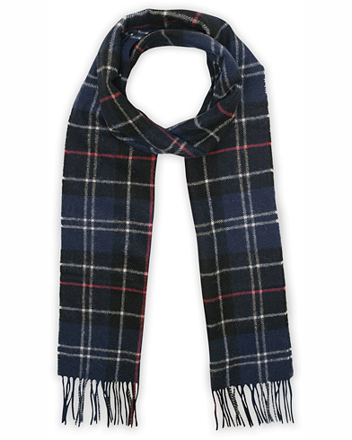 Barbour Lifestyle Tartan Lambswool Scarf Navy/Red  i gruppen Assesoarer / Skjerf hos Care of Carl (12018210)