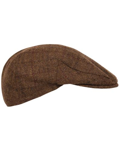 Barbour Lifestyle Moons Tweed Cap Brown Fine Overcheck i gruppen Tilbehør / Kasketter / Sixpence hos Care of Carl (12018611r)