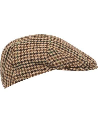 Barbour Lifestyle Moons Tweed Cap Beige Gun Club Check i gruppen Assesoarer / Caps / Sixpence hos Care of Carl (12018711r)
